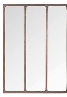 Miroir en métal Brut