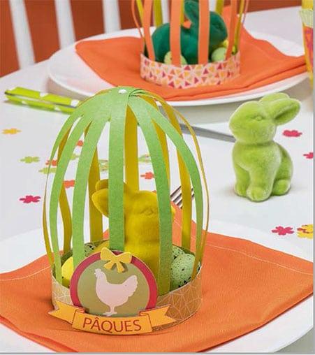 Décor de table : la cage de pâques