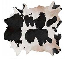 Tapis en peau de vache