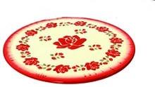Plat à tarte de rose ancienne