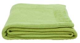 Couverture verte en coton