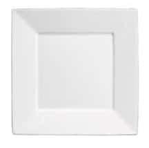 assiette carrée blanche