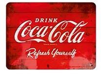 plaque publicitaire « Drink Coca-Cola »
