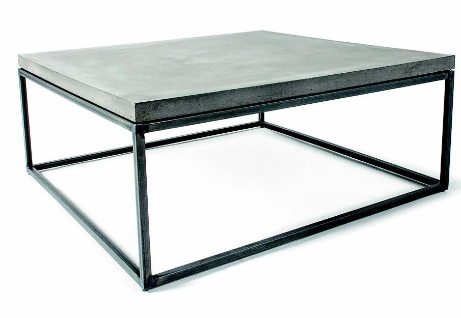 Table basse au design contemporain crée par Lyon Béton