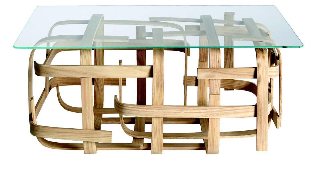 Table basse en bois massif Limelo