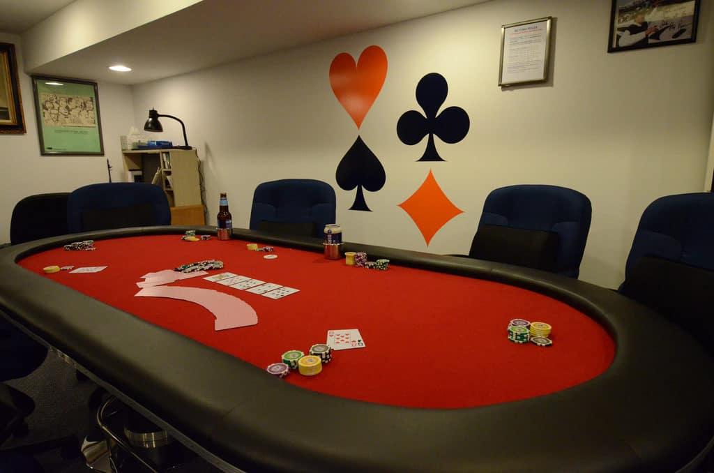 salle de poker à domicile