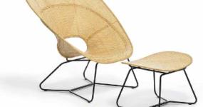 Fauteuil et footstool - FeelGood Design