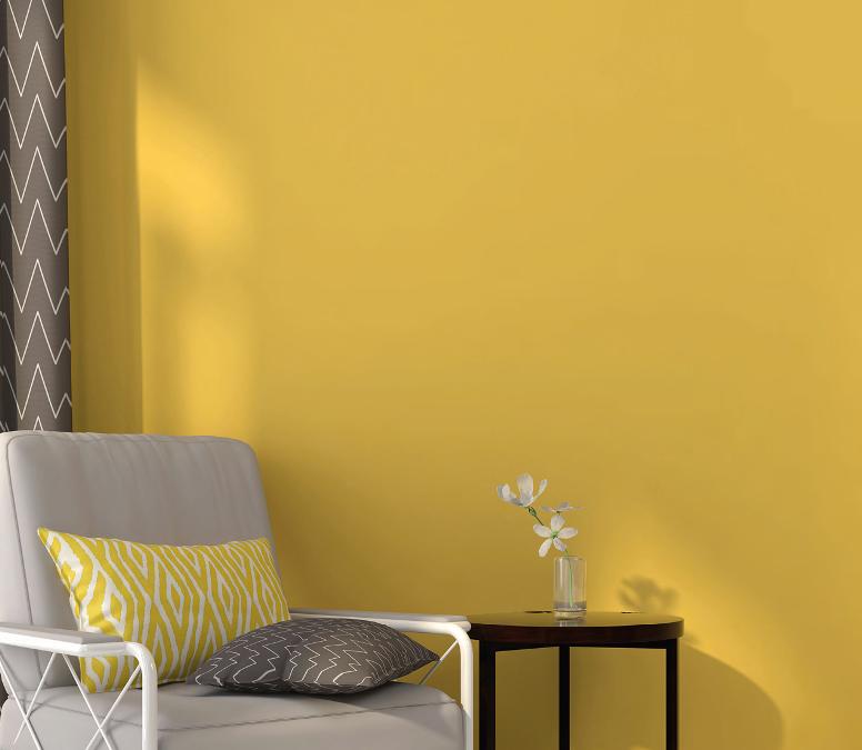 Le jaune, le soleil dans la maison