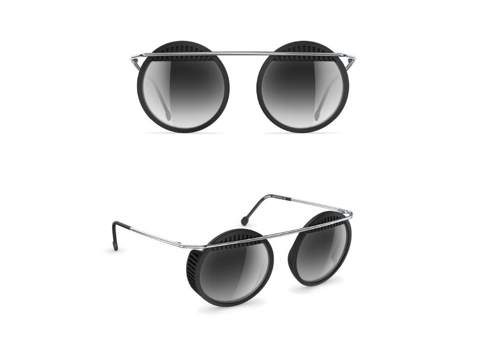 Des lunettes au style Bauhaus