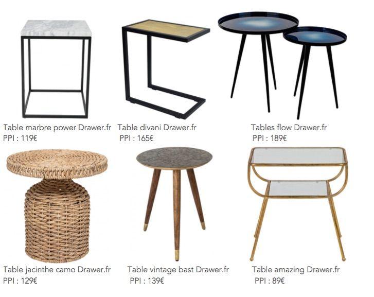 Objet Deco : Les Tables d'Appoint