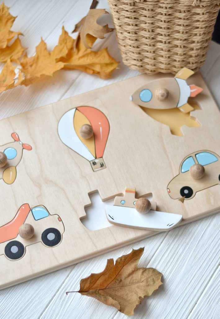SmartWoodenToys – Puzzle Montessori – 38 €