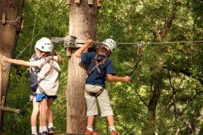Acrobranche au Parc Chloro'Fil, activité enfants pour les vacances