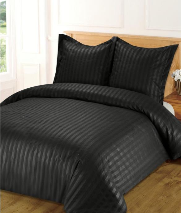 Parure de housse de couette polyester Noir - 29 € - Maisons du Monde -