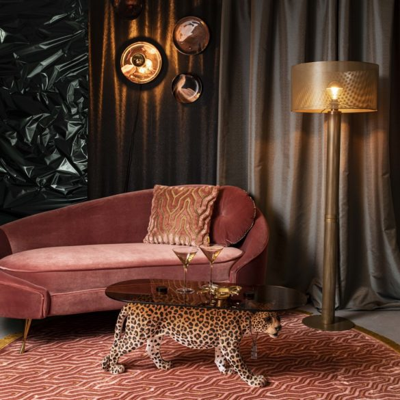 Table basse dope as hell leopard