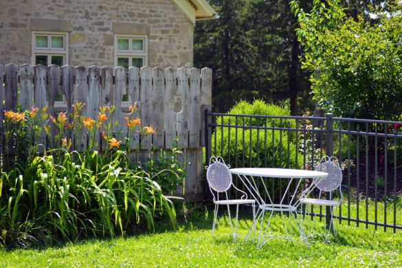 décoration du jardin