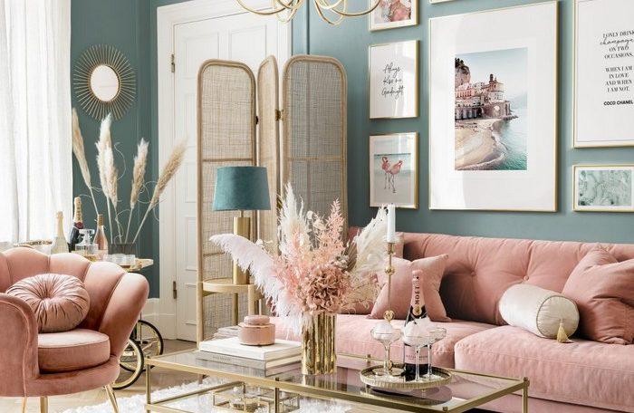salon rose vintage