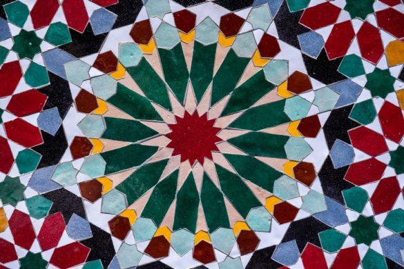 Aït Manos détail zelliges couleurs