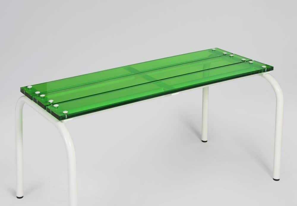 Laurent Badier Design Banc Blanc Vert