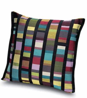 Multicolore Un joli coussin en coton aux superbes couleurs vives. 40 x 40 cm. Missoni Home.