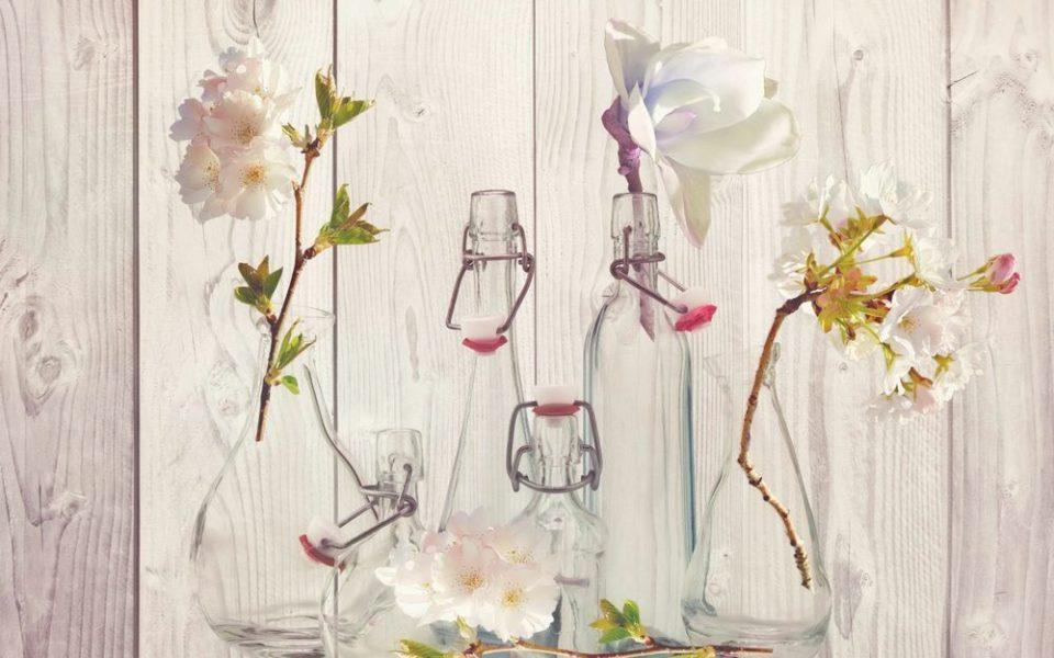 Collection de vases verre