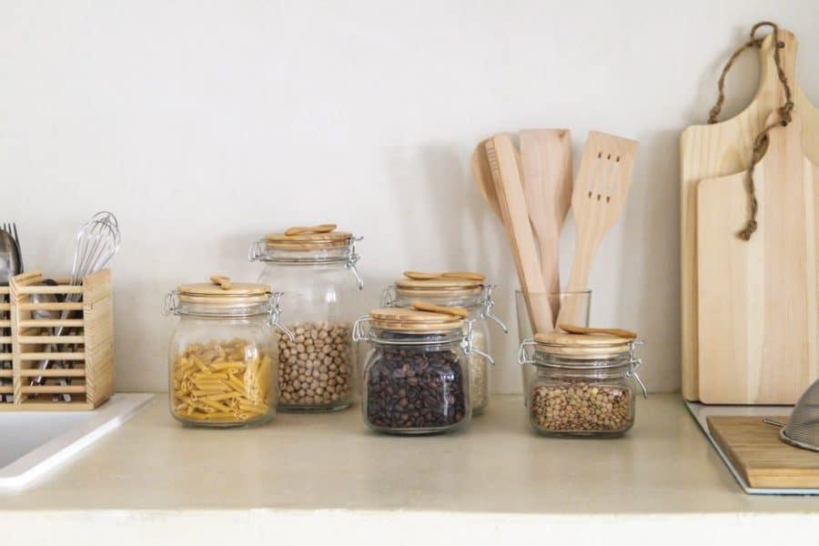 bois et verre cuisine