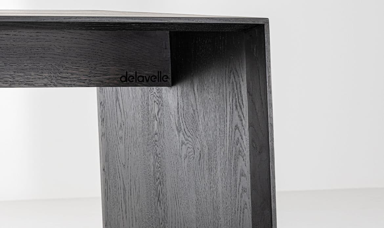 Anouk table basse Delavelle noircie