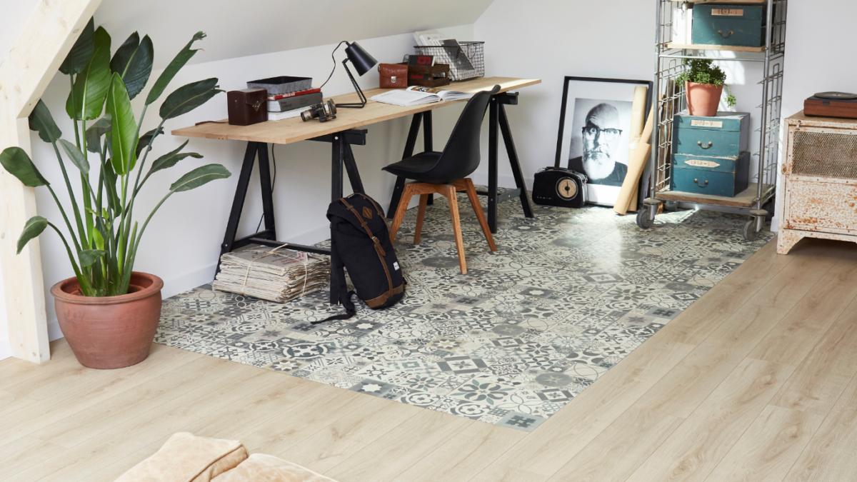 Combinez deux sols avec les nouvelles dalles creativ par Leroy Merlin