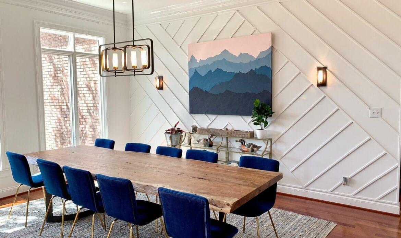 salle manger bleu